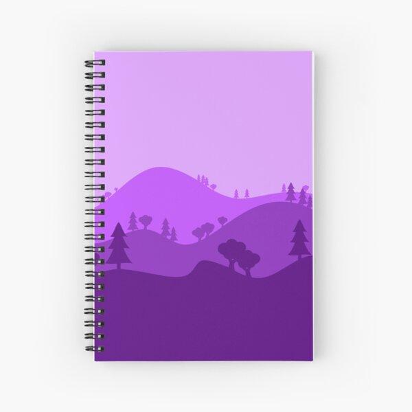 Landscape Blended Purple Spiral Notebook