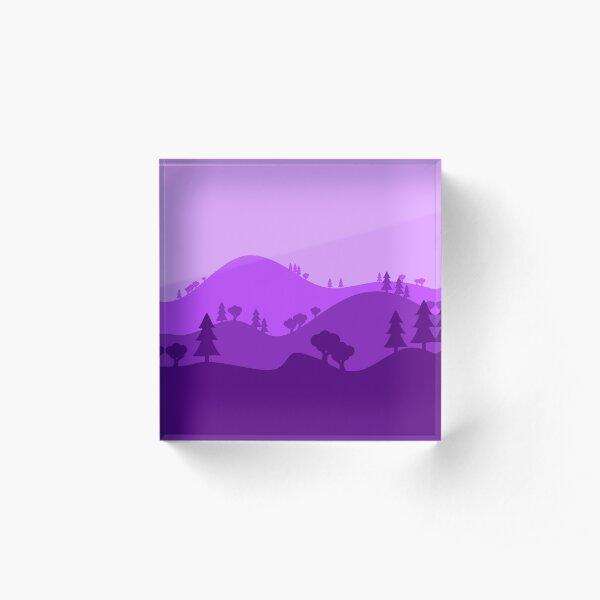 Landscape Blended Purple Acrylic Block