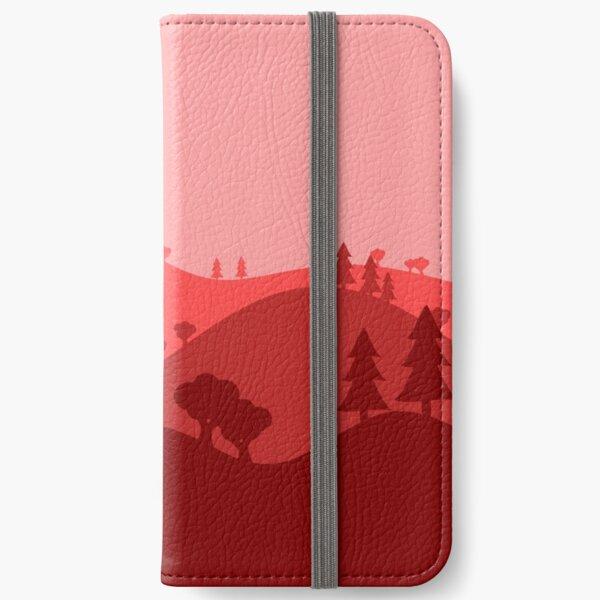 Landscape Blended Red iPhone Wallet