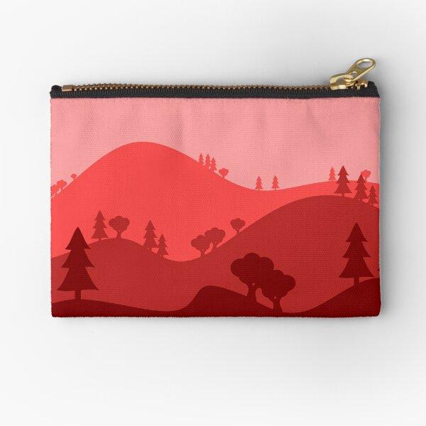 Landscape Blended Red Zipper Pouch