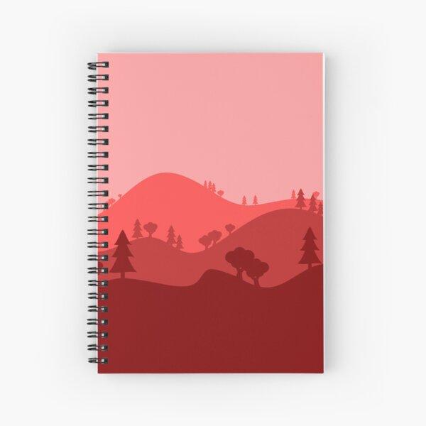 Landscape Blended Red Spiral Notebook