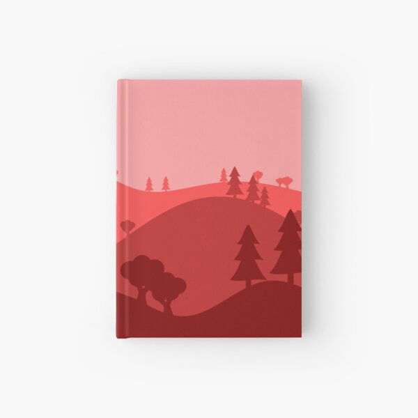 Landscape Blended Red Hardcover Journal
