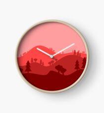 Landscape Blended Red Clock