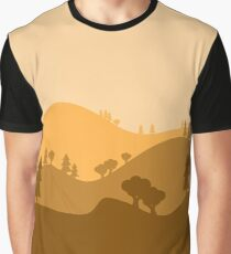 Landscape Blended Yellow Graphic T-Shirt
