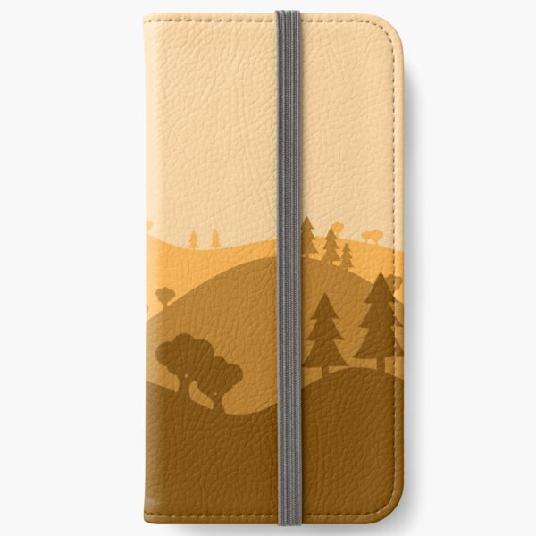 Landscape Blended Yellow iPhone Wallet
