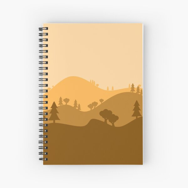 Landscape Blended Yellow Spiral Notebook