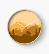 Landscape Blended Yellow Clock