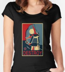 destroy Women's Fitted Scoop T-Shirt