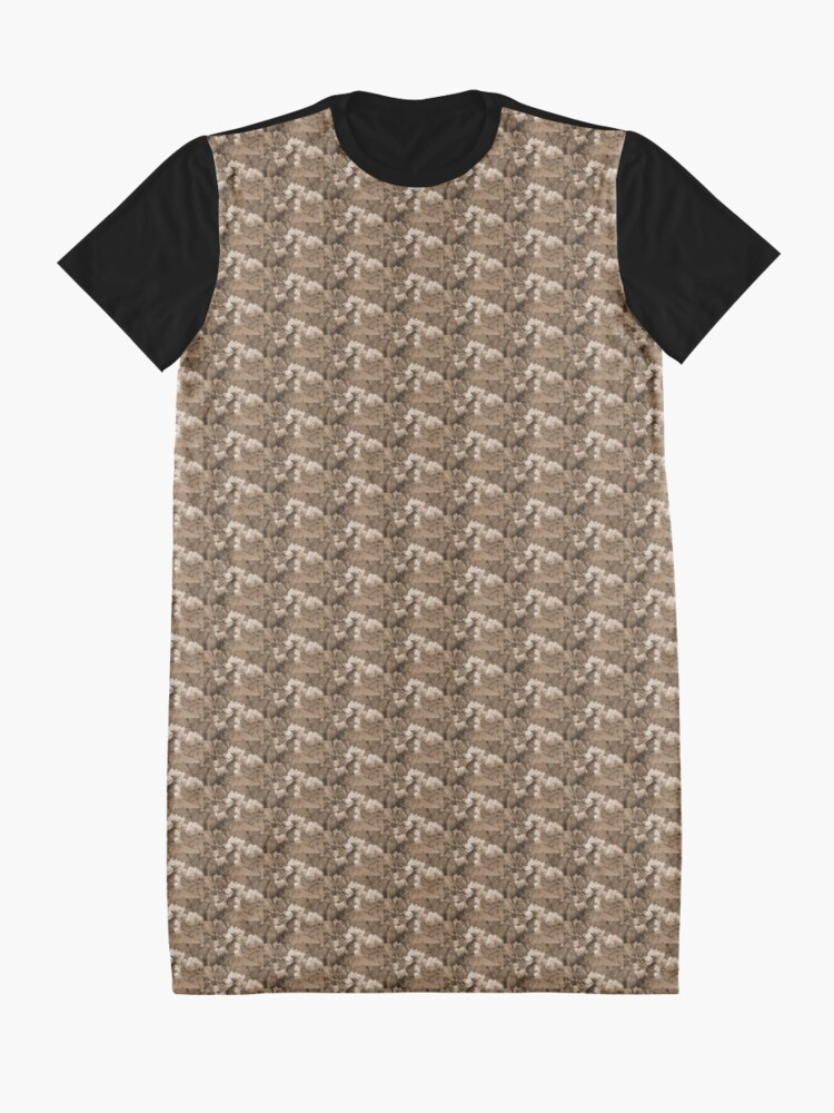 Alternate view of cherry blossoms in the sky, sepia Graphic T-Shirt Dress