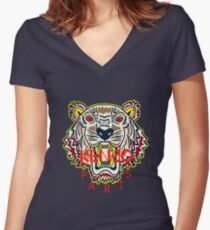 kenzo  Women's Fitted V-Neck T-Shirt