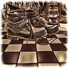 Tiled Forest Boots by GolemAura