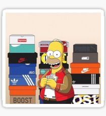 Homer Stacked With Shoes Sticker