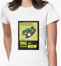 Dig for Victory!  Victory Garden  Womens Fitted T-Shirt