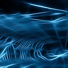 Blue Neon Web II by Lesley Smitheringale
