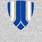 Chelsea Shield Club Colours by HandDrawnTees