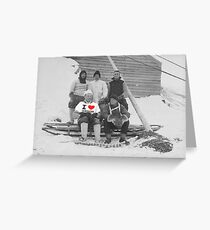 George M. Levick Loves Penguins Greeting Card