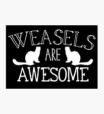 Weasels are awesome Photographic Print