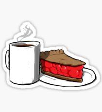Damn Good Coffee and a Cherry Pie Sticker
