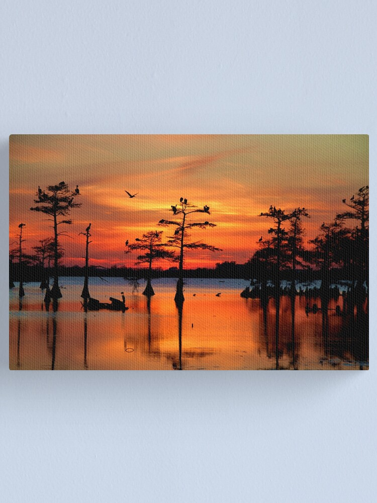 Alternate view of Sunset on the Bayou Canvas Print
