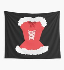 red santa corset christmas corset Mrs Claus Wall Tapestry
