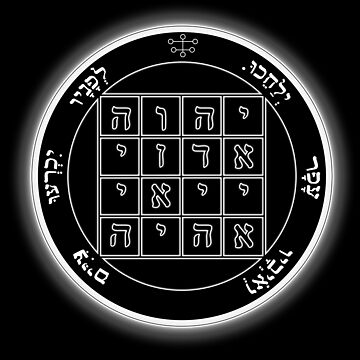 Key of Solomon - First Pentacle of Saturn by galacticrad