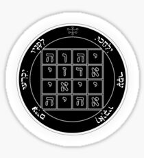 Key of Solomon - First Pentacle of Saturn Sticker