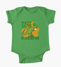 T-REX LOVES ST. PATRICK'S DAY Kids Clothes