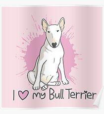 Bull Terrier (female) Poster