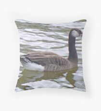 A Greylag - Canada Hybrid Goose Throw Pillow