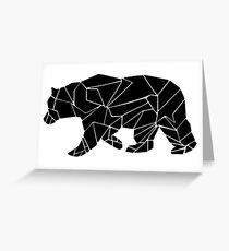 Geometric Bear Greeting Card