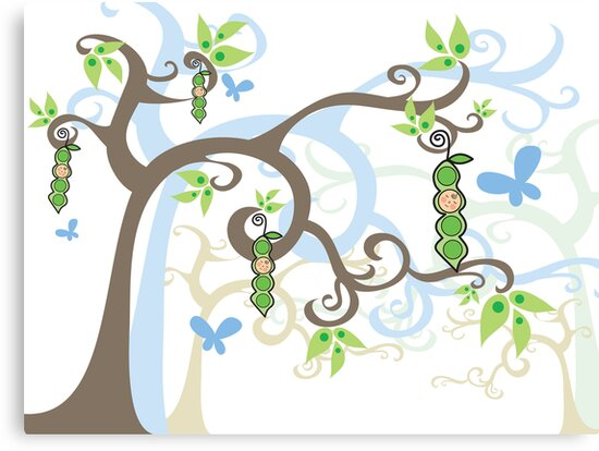 Magic Trees and Baby Boy Pea in a Pod by fatfatin