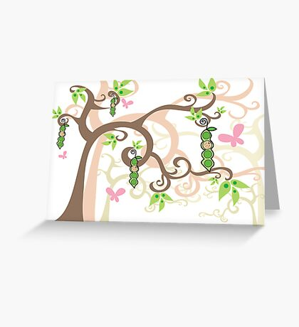 Magic Trees and Baby Girl Pea in a Pod Greeting Card