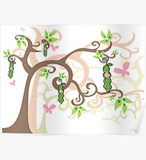 Magic Trees and Baby Girl Pea in a Pod Poster