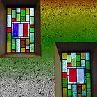 Floating Stained Glass Windows  by Heather Friedman