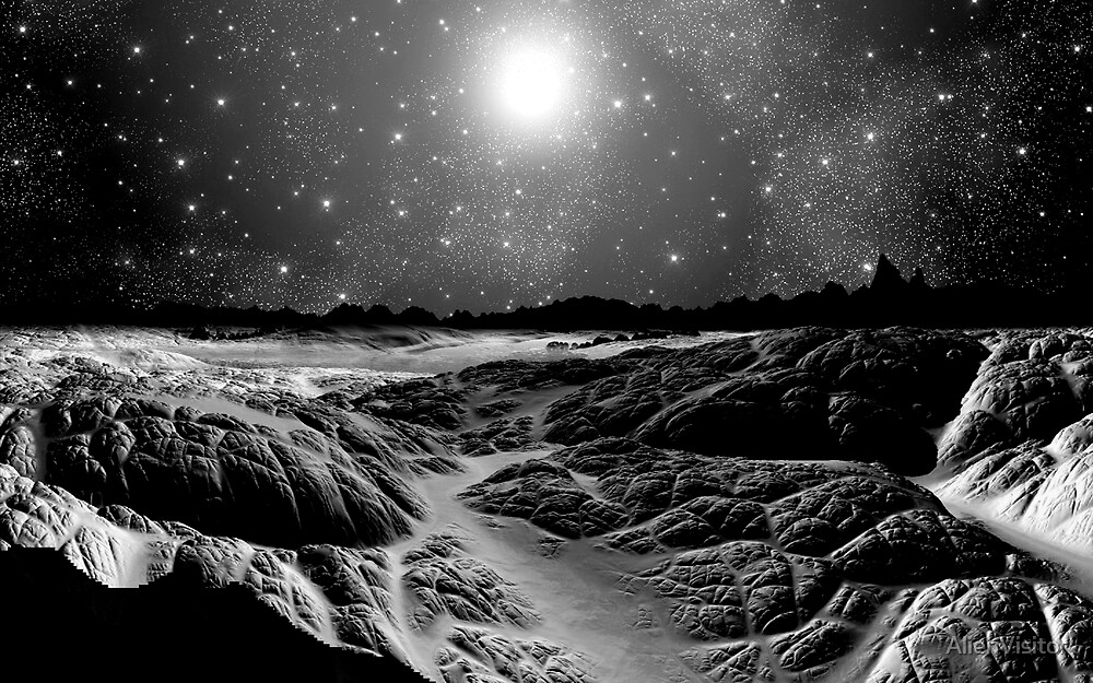 Lava Flows/B&W by AlienVisitor