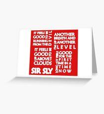 High (Sir Sly) Greeting Card