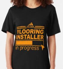 FLOORING INSTALLER Slim Fit T-Shirt