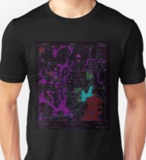 USGS TOPO Map Florida FL Kissimmee 346946 1953 24000 Inverted Unisex T-Shirt