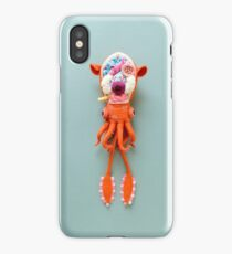 Anatomy of Small Ear Squid & Deep Water Clams iPhone Case/Skin