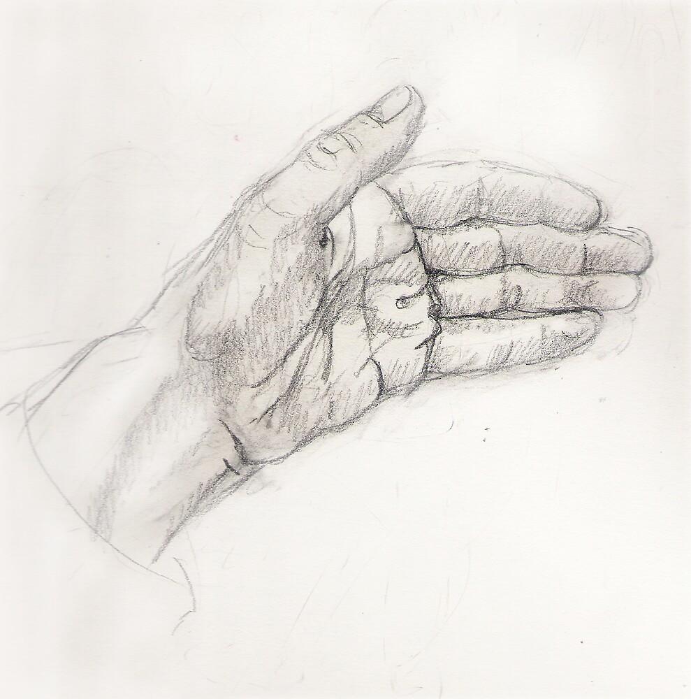 My hand by Fiona O'Beirne