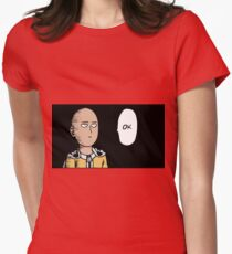 One - Punch man Womens Fitted T-Shirt