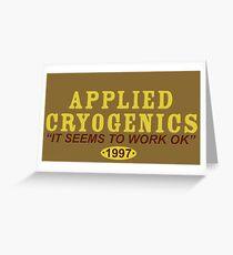 Applied Cryogenics Greeting Card
