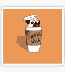 Pugkin Spice Latte Sticker