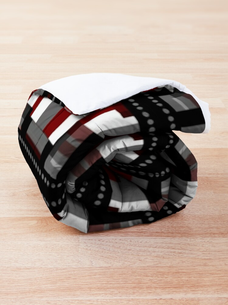 Alternate view of Abstract Plaid Punk  Comforter