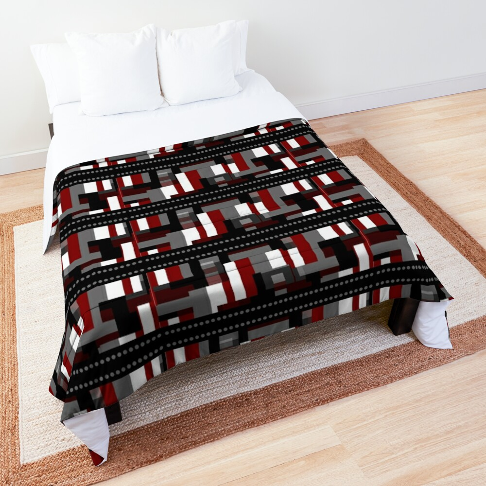 Abstract Plaid Punk  Comforter