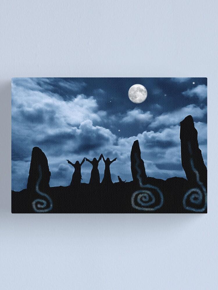 Alternate view of Moondancing Canvas Print