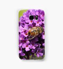 Purple Flower with bee Samsung Galaxy Case/Skin
