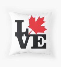 Canada - Love (Black Text) Throw Pillow
