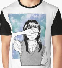Lonely girl sad aesthetic no text Graphic T-Shirt