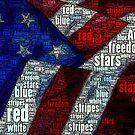 Stars and Stripes Word Art by Dana Roper